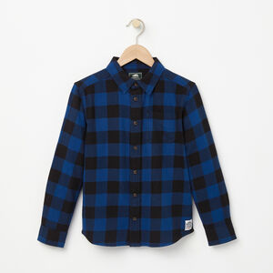 Roots-Gifts Mini Me-Boys Algonquin Flannel Shirt-Anchor Lake Blue-A