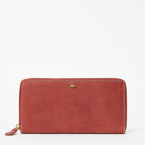 Roots-Leather Wallets-Zip Around Wallet Tribe-Paprika-A