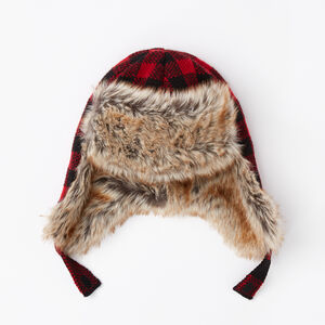 Roots-Kids Accessories-Kids Lumberjack Trapper Hat-Lodge Red-A