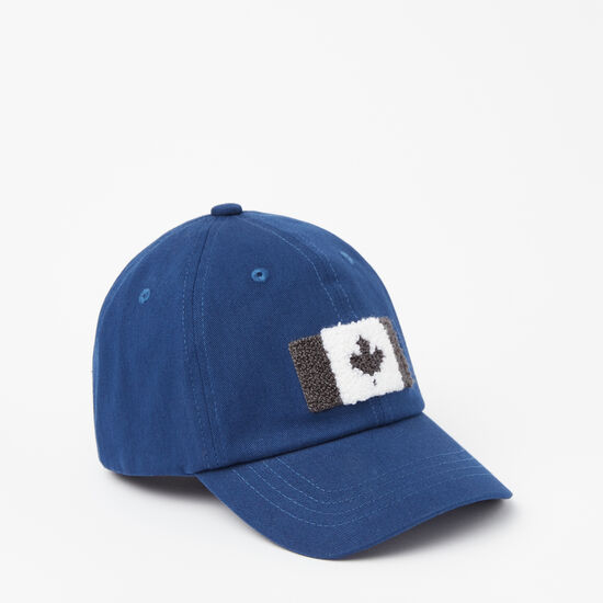 Roots-Kids New Arrivals-Toddler Chenille Flag Baseball Cap-Anchor Lake Blue-A