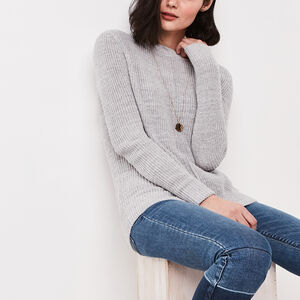 Roots-Women New Arrivals-Ridgeview Sweater-Snowy Ice Mix-A