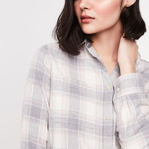 Roots-Women Shirts-Nora Flannel Shirt-Grey Mix-A