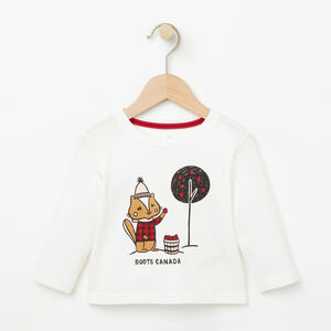 Roots-Kids T-shirts-Baby Outdoor Activity T-shirt-Cloudy White-A