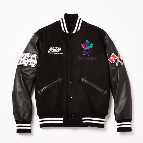 Roots-Men Award Jackets-Ottawa 2017 Award Jacket-Black-A