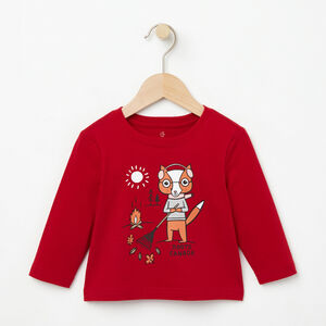 Roots-Kids T-shirts-Baby Outdoor Activity T-shirt-Lodge Red-A