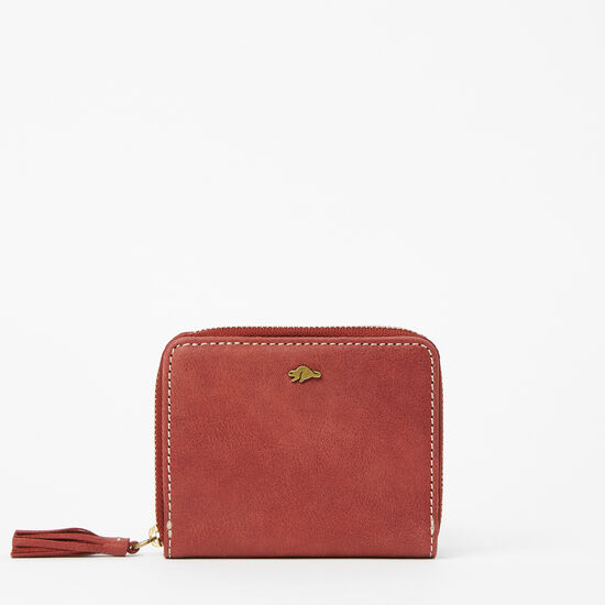 Roots-Leather Wallets-Small Tassel Wallet Tribe-Paprika-A