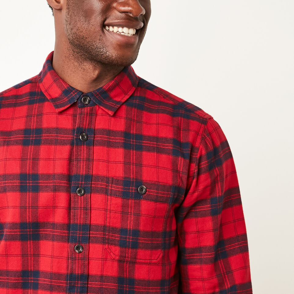 Roots-undefined-Manning Light Weight Flannel Shirt-undefined-C
