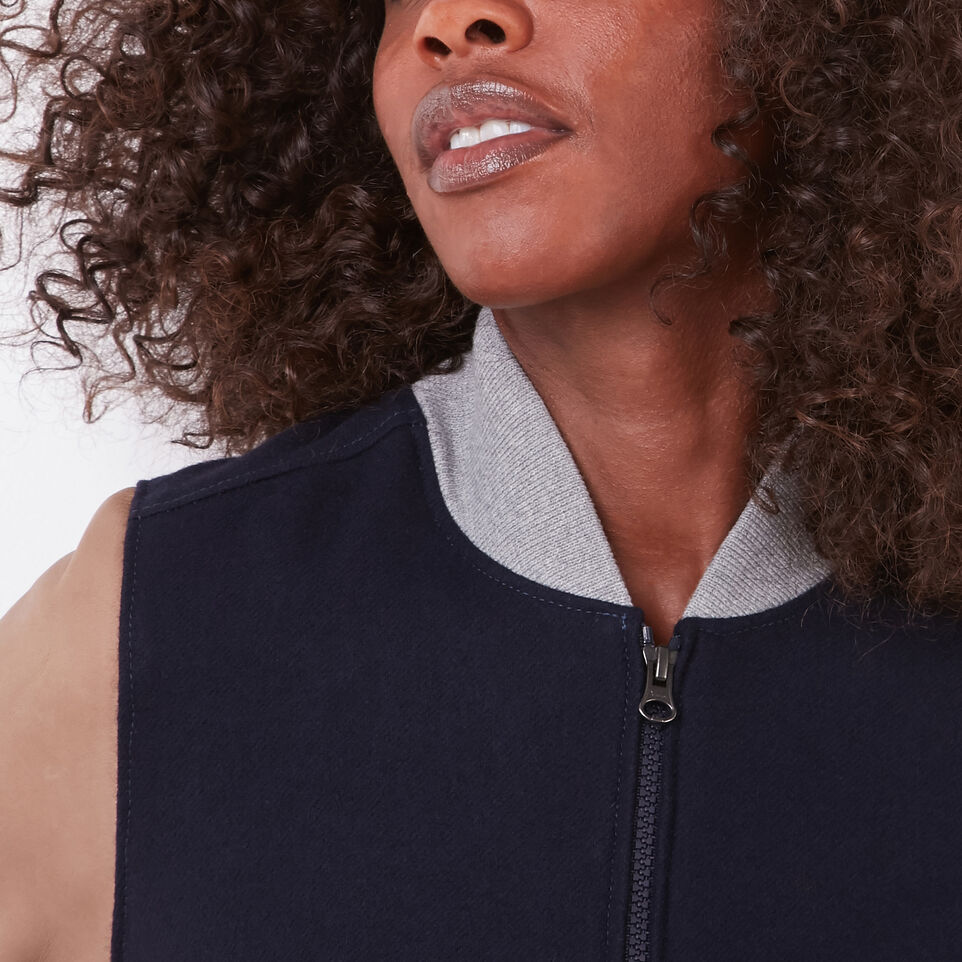 Roots-undefined-Womens Lightweight Jacket Melton/Leather-undefined-E