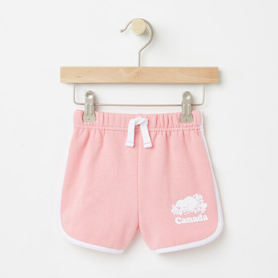 Roots-Sale Baby-Baby Cooper Canada Shorts-Peony Pink-A