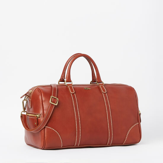 Roots-Leather Handbags-Banff Satchel Veg-Oak-A