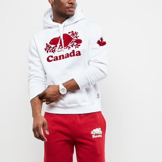 Roots-Leather Men's-Mens Cooper Canada Kanga Hoody-White-A