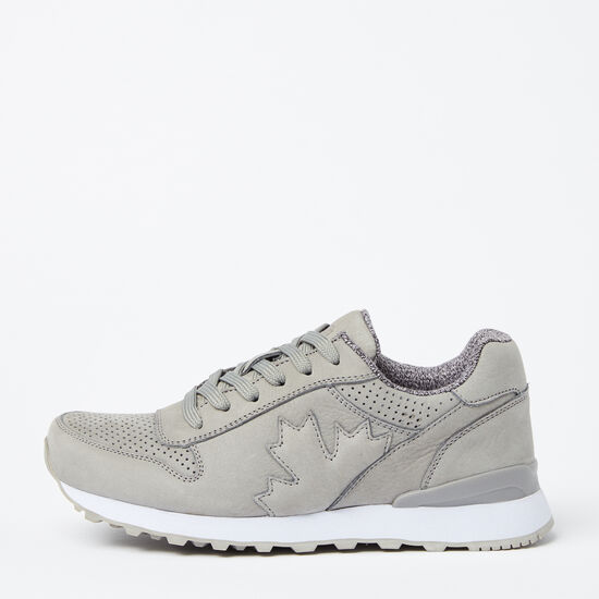 Roots-Shoes Shoes-Womens Trans Canada Jogger Nubuck-Grey-A