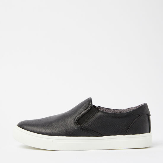 Roots-Shoes Shoes-Womens Slip On Sneaker Leather-Black-A