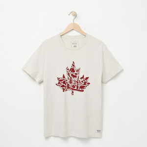 Roots-Men Graphic T-shirts-Maple Icon T-shirt-White Grey Mix-A