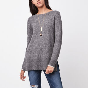 Roots-Women Tops-Chalet Bateau Top-Grey Oat Mix-A