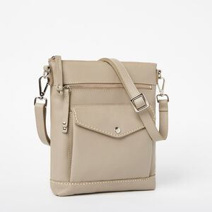 Roots-Women Bags-Post Bag Bridle-Pearl Grey-A