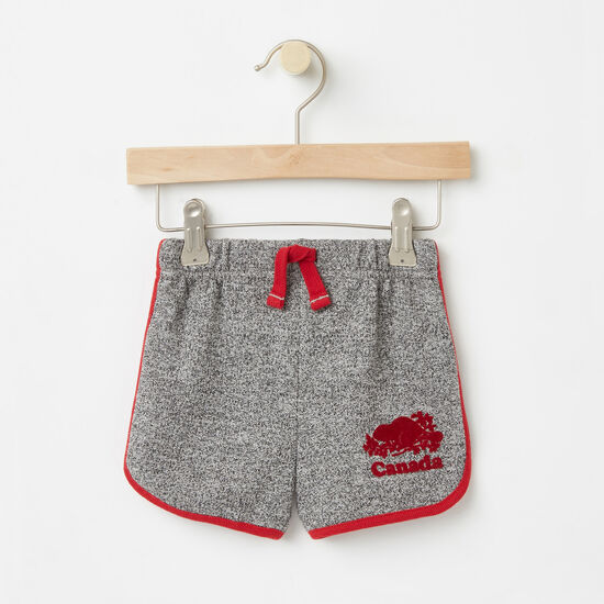 Roots-Sale Baby-Baby Cooper Canada Shorts-Salt & Pepper-A