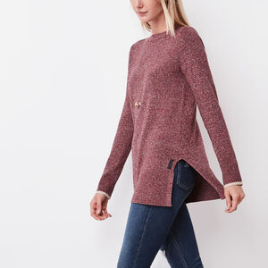 Roots-Women Tops-Chalet Bateau Top-Lodge Red Mix-A