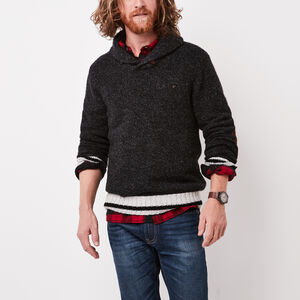 Roots-Men The Roots Cabin Collection™-Roots Cabin Pullover-Black Mix-A