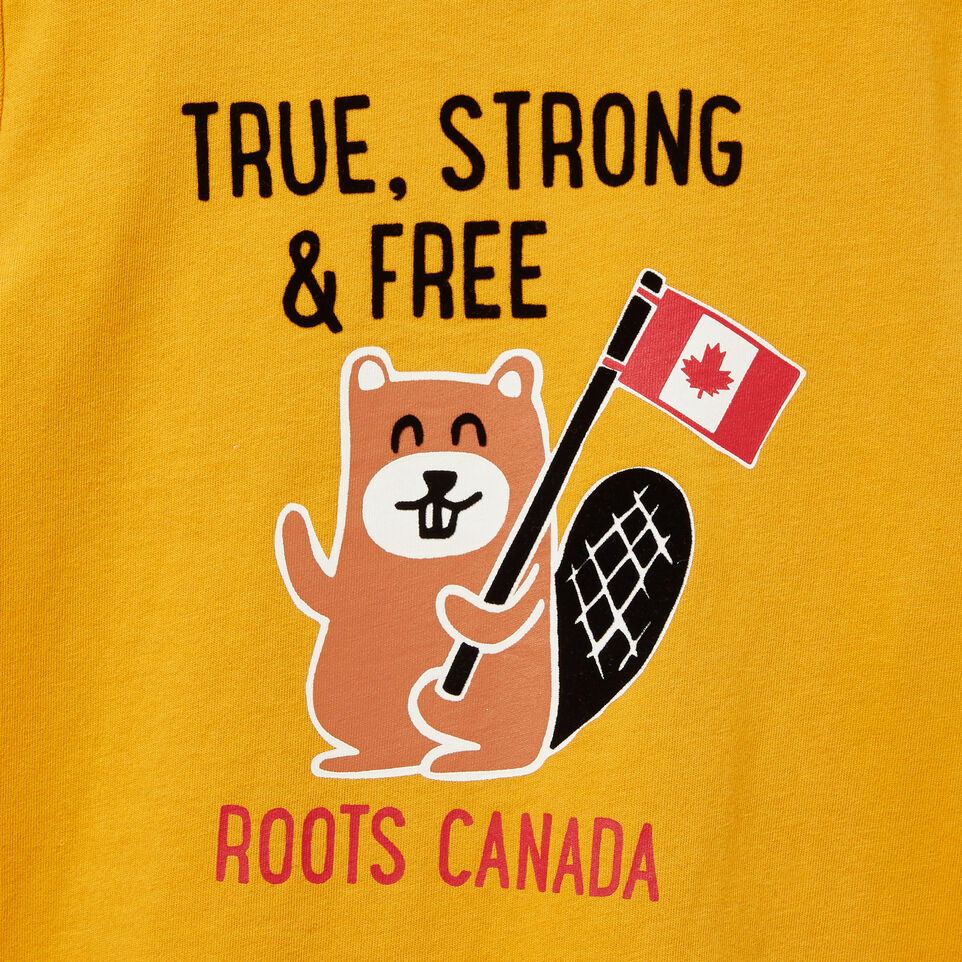 Roots-undefined-Toddler Strong And Free Beaver T-shirt-undefined-C