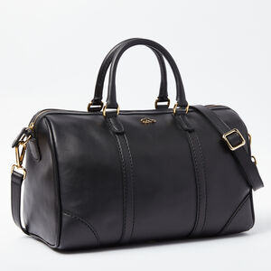 Roots-Leather Shoulder Bags-Petite Banff Box-Black-A