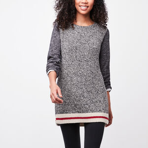 Roots-Women Tops-Roots Cabin Hybrid Tunic-Grey Oat Mix-A