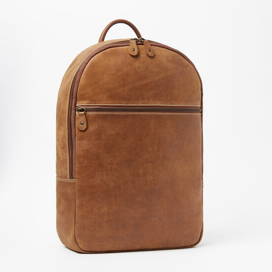 Roots-Leather Backpacks-Go Pack Tribe 15in-Africa-A