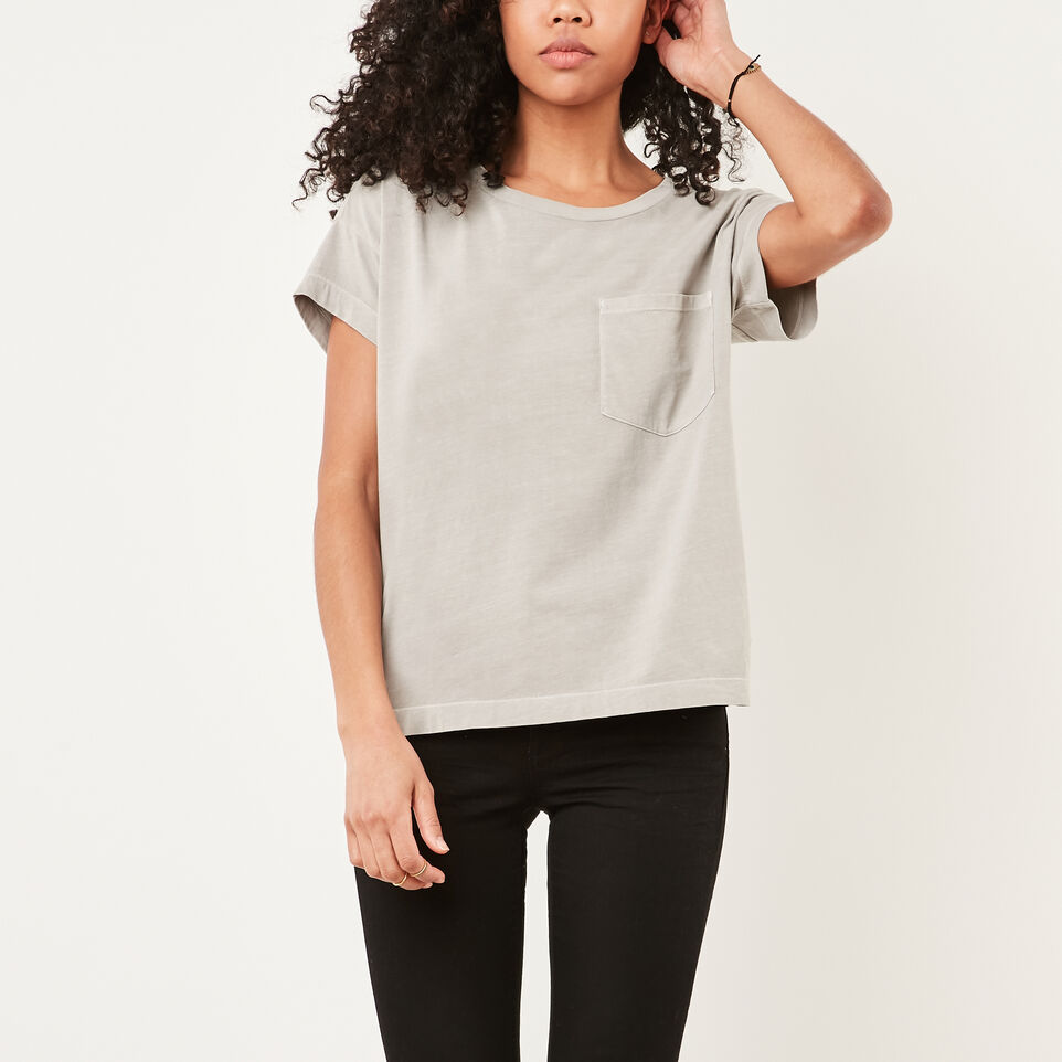 Roots-undefined-Boyfriend Pocket T-shirt-undefined-A