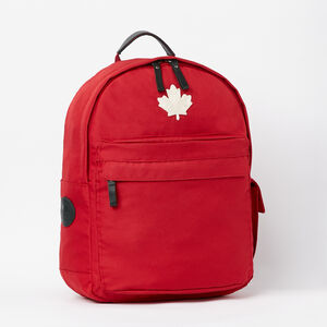Roots-Men Backpacks-Go North Student Pack-Lodge Red-A