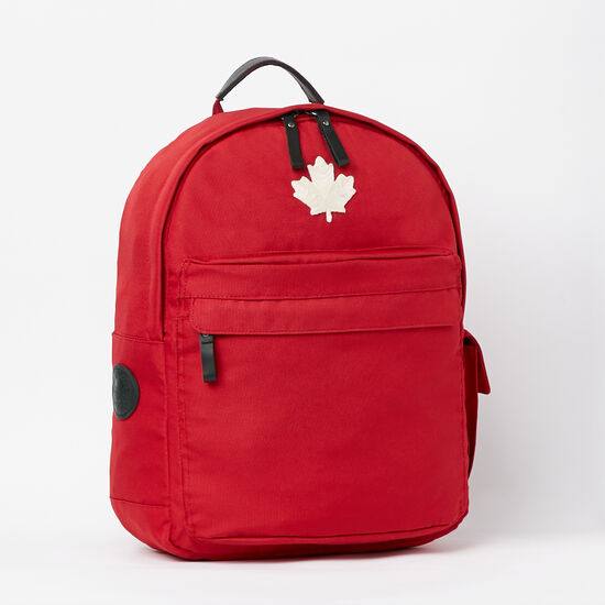 Roots-Women Backpacks-Go North Student Pack-Lodge Red-A