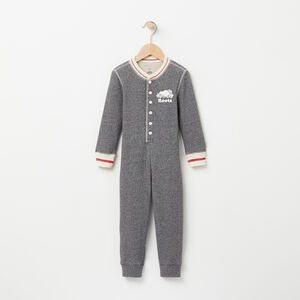 Roots-Kids Pajamas-Toddler Pepper Long John-Salt & Pepper-A