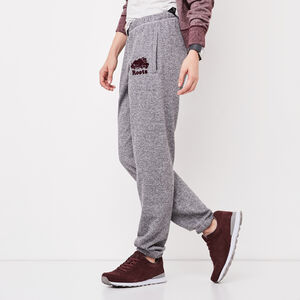 Roots-Women Bottoms-Original Sweatpant-Salt Pepper/ Crimsn-A