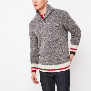Roots-Men Sweaters & Cardigans-Roots Cabin Pullover-Grey Oat Mix-A