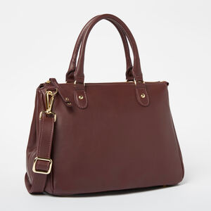 Roots-Leather Shoulder Bags-Small Grace Bag Bridle-Garnet-A