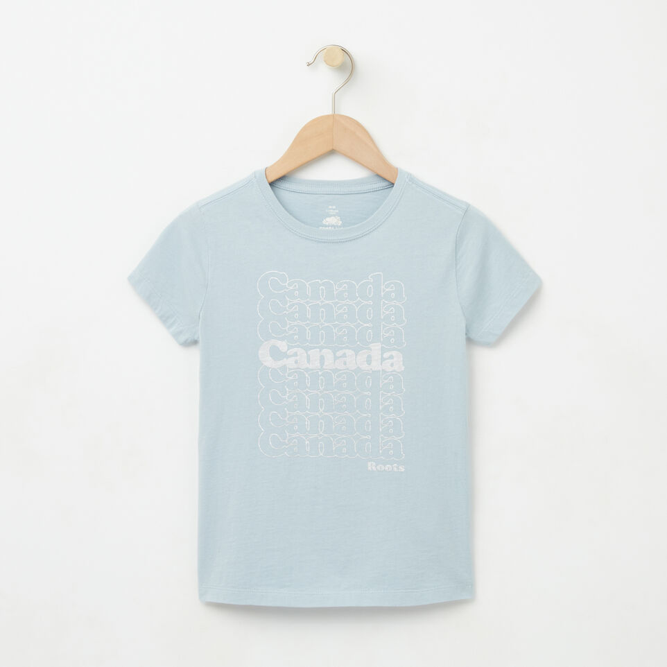 Roots-undefined-Filles T-shirt Stacks Canada Métal-undefined-A