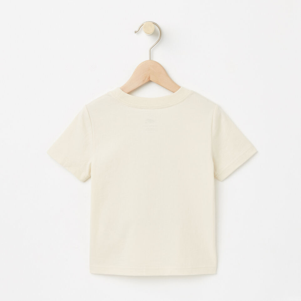 Roots-undefined-Tout-Petits T-shirt In My Backpack Phosphorescent-undefined-B