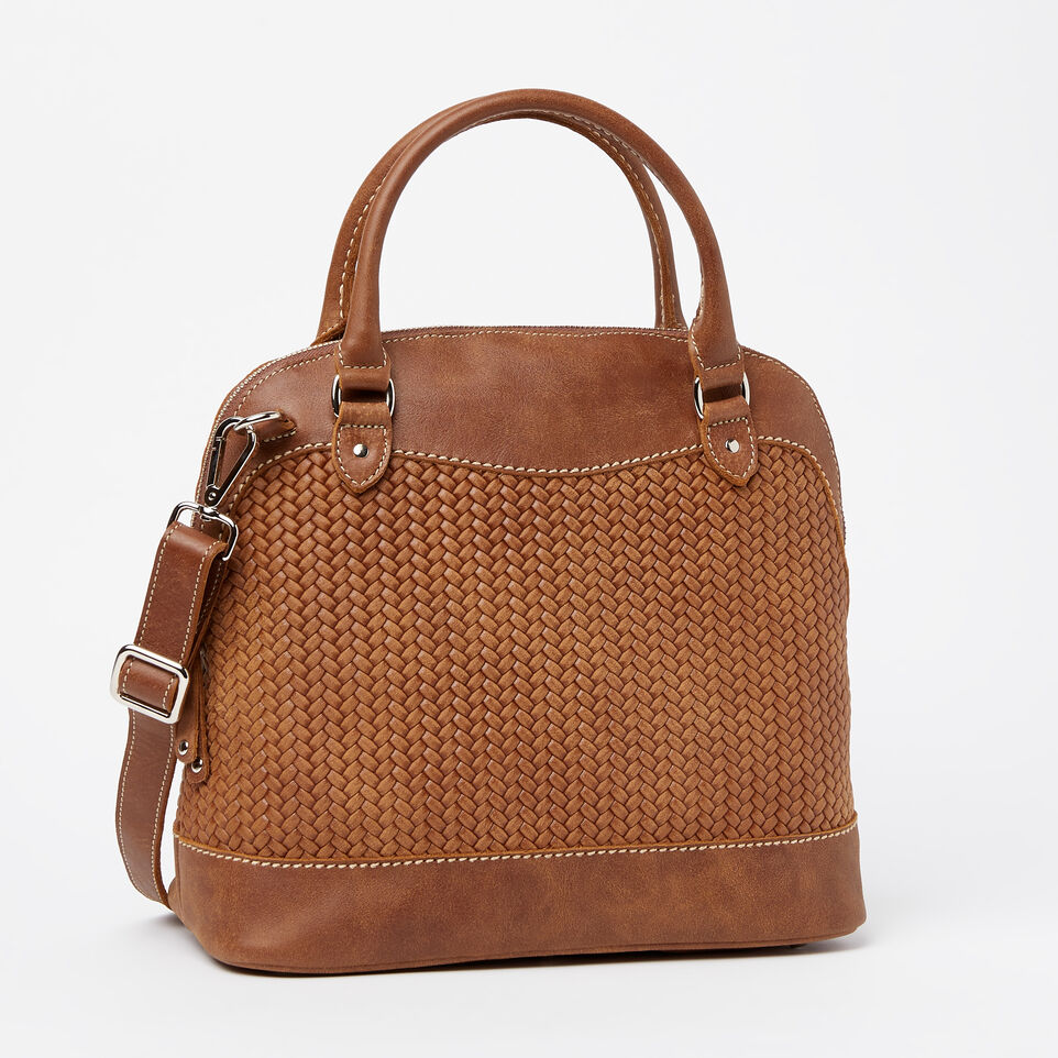 Roots-undefined-Sac Cafe en cuir tressé Tribe-undefined-A