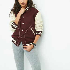 Roots-Sale Women's-Womens Boyfriend Varsity Jacket-Burgundy-A