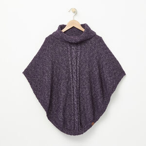 Roots-Gifts Mini Me-Girls Winter Fox Poncho-Night Shade-A