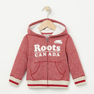 Roots-Kids Baby Girl-Baby Roots Cabin Full Zip Hoody-Lodge Red Pepper-A