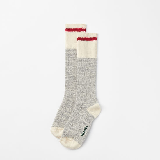 Roots-Women Features-Womens Park Sock 2 Pack-Grey Mix-A