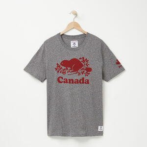 Roots-Leather Canada Collection By Roots™-Mens Cooper Canada T-shirt-Salt & Pepper-A