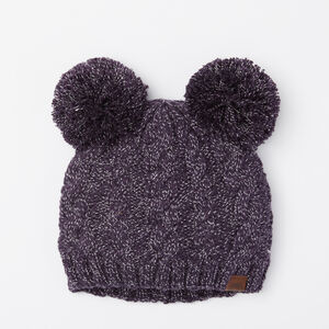 Roots-Gifts Mini Me-Girls Winter Fox Pup Toque-Night Shade-A