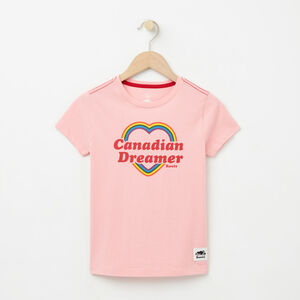 Roots-Sale Girls-Girls Canadian Heart T-shirt-Peony Pink-A