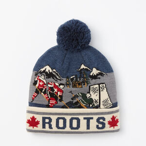 Roots-Men Hats-Outdoor Hockey Toque-Navy Blazer Mix-A