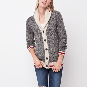 Roots-Women Tops-Roots Cabin Cardigan-Grey Oat Mix-A