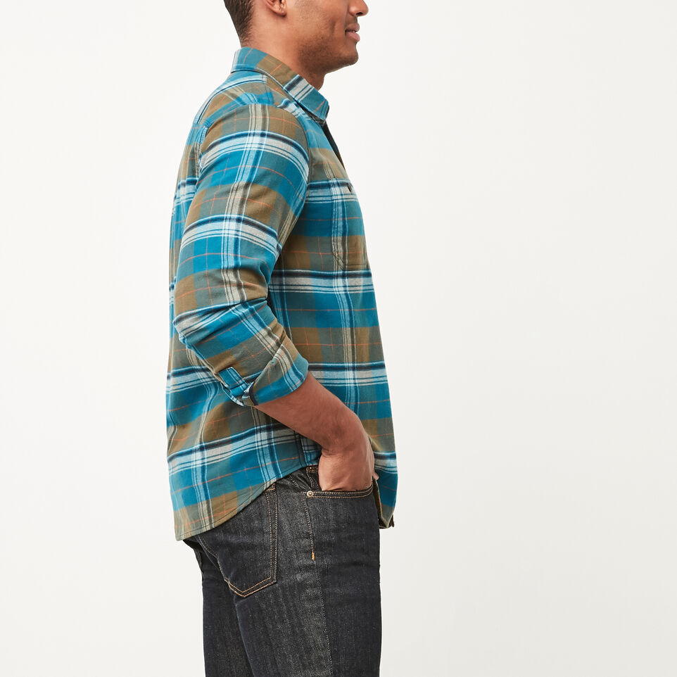 Roots-undefined-Rivers Flannel Shirt-undefined-B