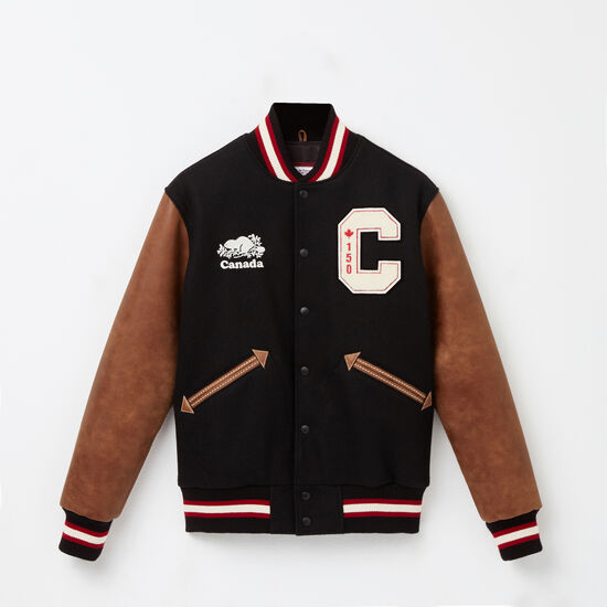 Roots-Men Award Jackets-Canada 150 Jacket Tribe-Black-A