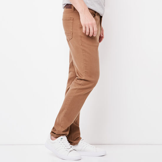 Roots-Men New Arrivals-New Albany 5 Pocket Pant-Calfskin Tan-A