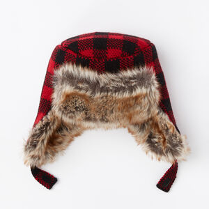 Roots-Kids Accessories-Toddler Lumberjack Trapper Hat-Lodge Red-A